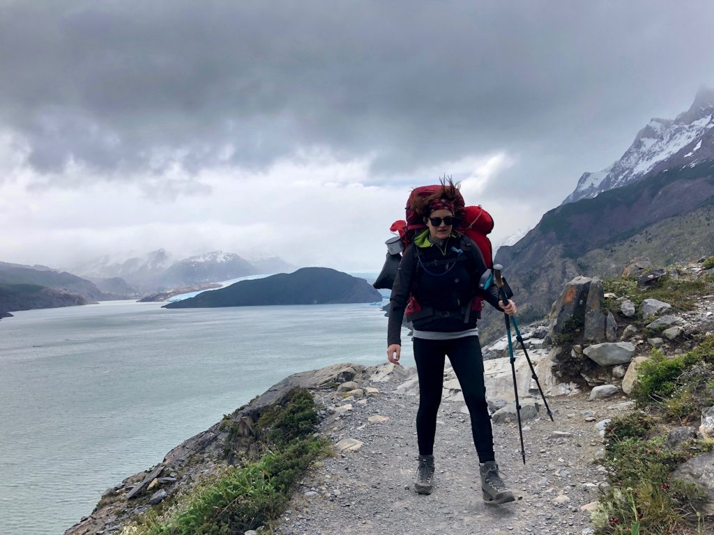 Kurz vorm Weggeblasen werden im Nationalpark Torres del Paine.