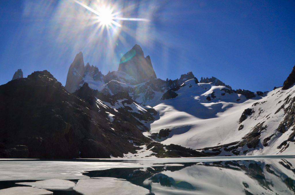 Laguna de los Tres und Mount Fitz Roy bei El Chaltén.