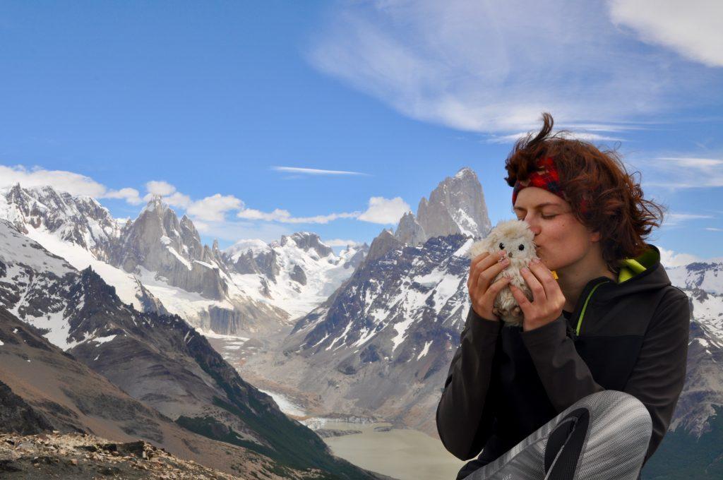Cerro Torre, Gletscher Grande, Laguna Torre und Mount Fitz Roy bei El Chaltén mit Charlotte vom Blog Rausgier.
