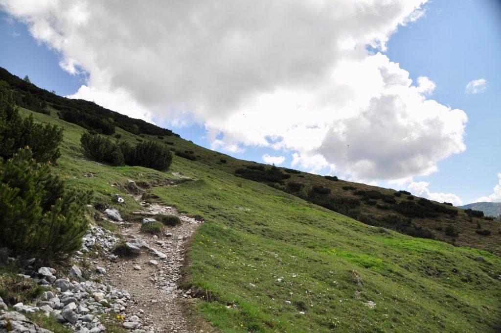 Als Zwei-Frau-Wandergruppe ging es über kleine Pfade aufs Hochplateau zum Tauernkogel.