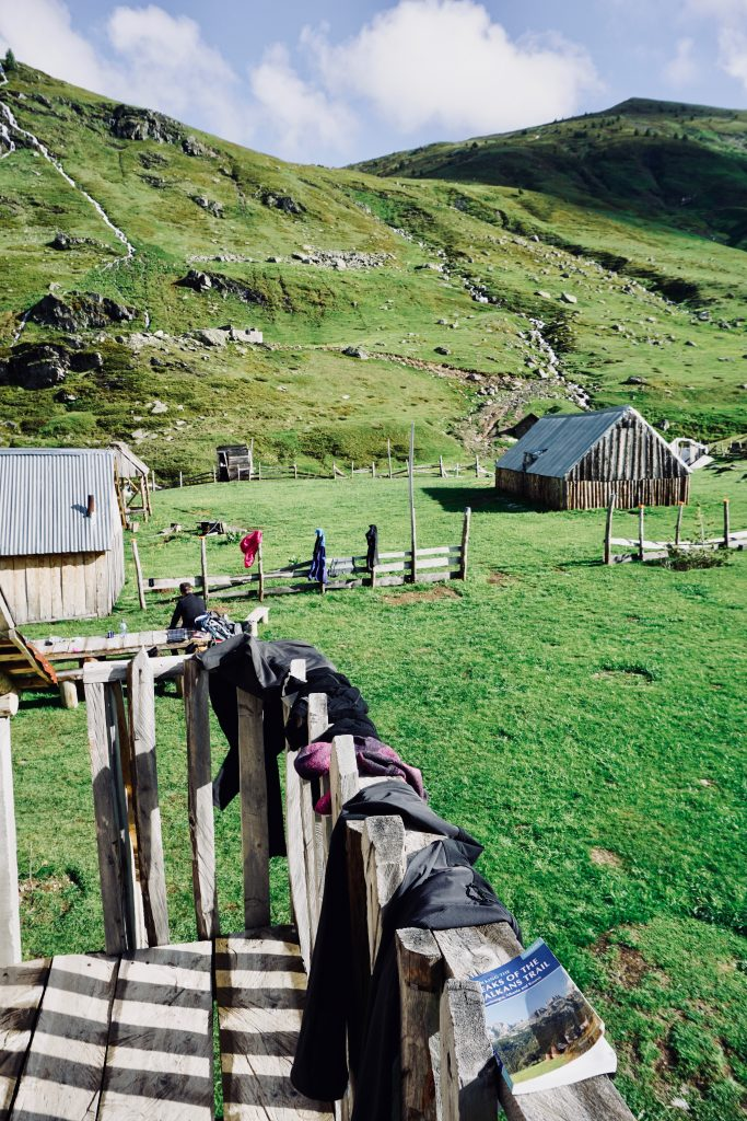 Hirtenhütten auf dem Peaks of the Balkans.