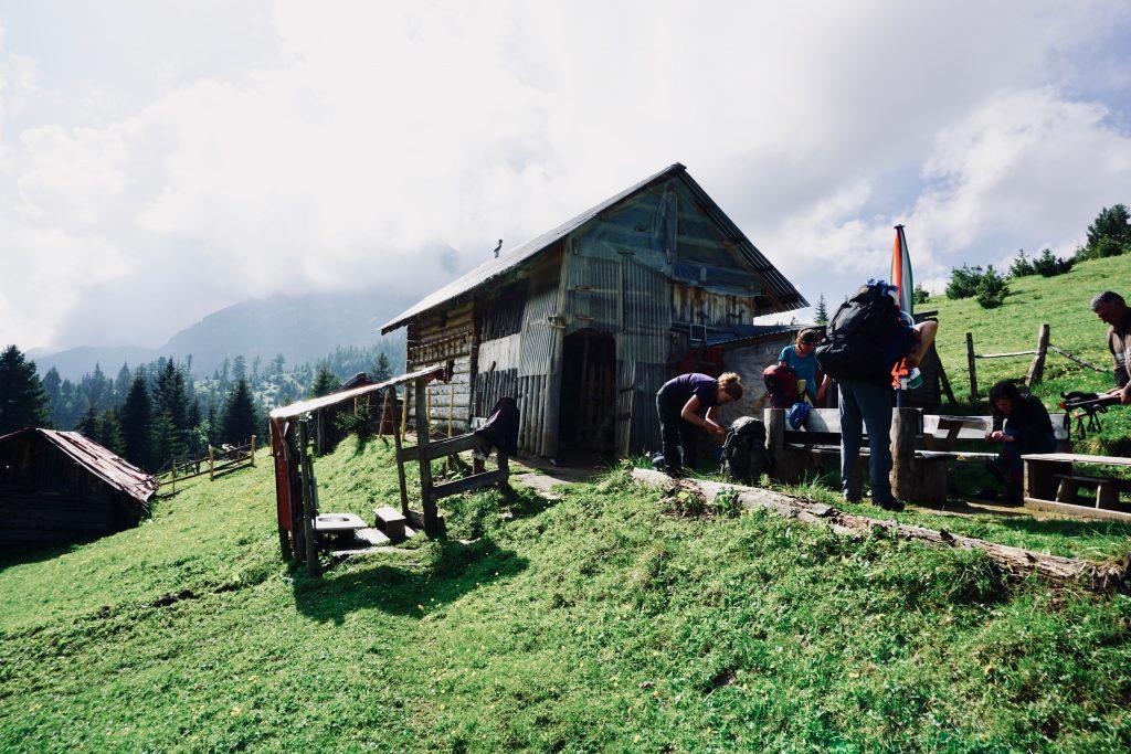 Hütte auf dem Peaks of the Balkans.