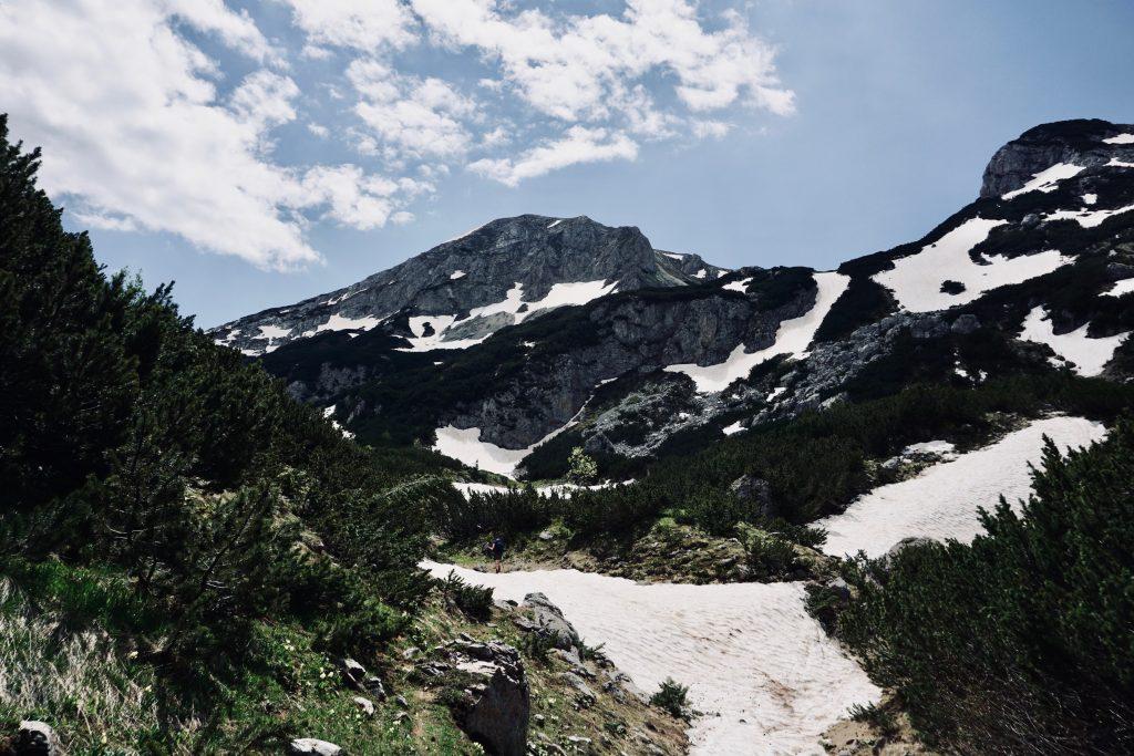 Gebirgsaussicht auf dem Peaks of the Balkans.